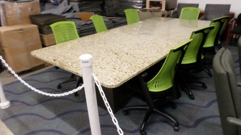 Used Foot Granite Conference Table Direct Office Solutions - Granite conference table