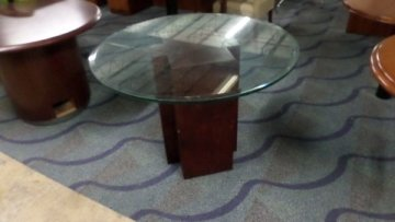 Used Round Glass Conference Table Direct Office Solutions - Round glass conference table