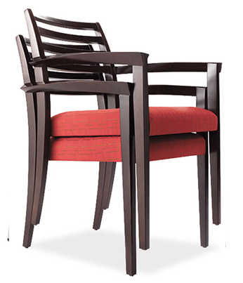 Wood Guest Stacking Chair w/Arms u0026 Sable Cherry Wood Frame - Direct Office Solutions  sc 1 st  Direct Office Solutions & Wood Guest Stacking Chair w/Arms u0026 Sable Cherry Wood Frame - Direct ...
