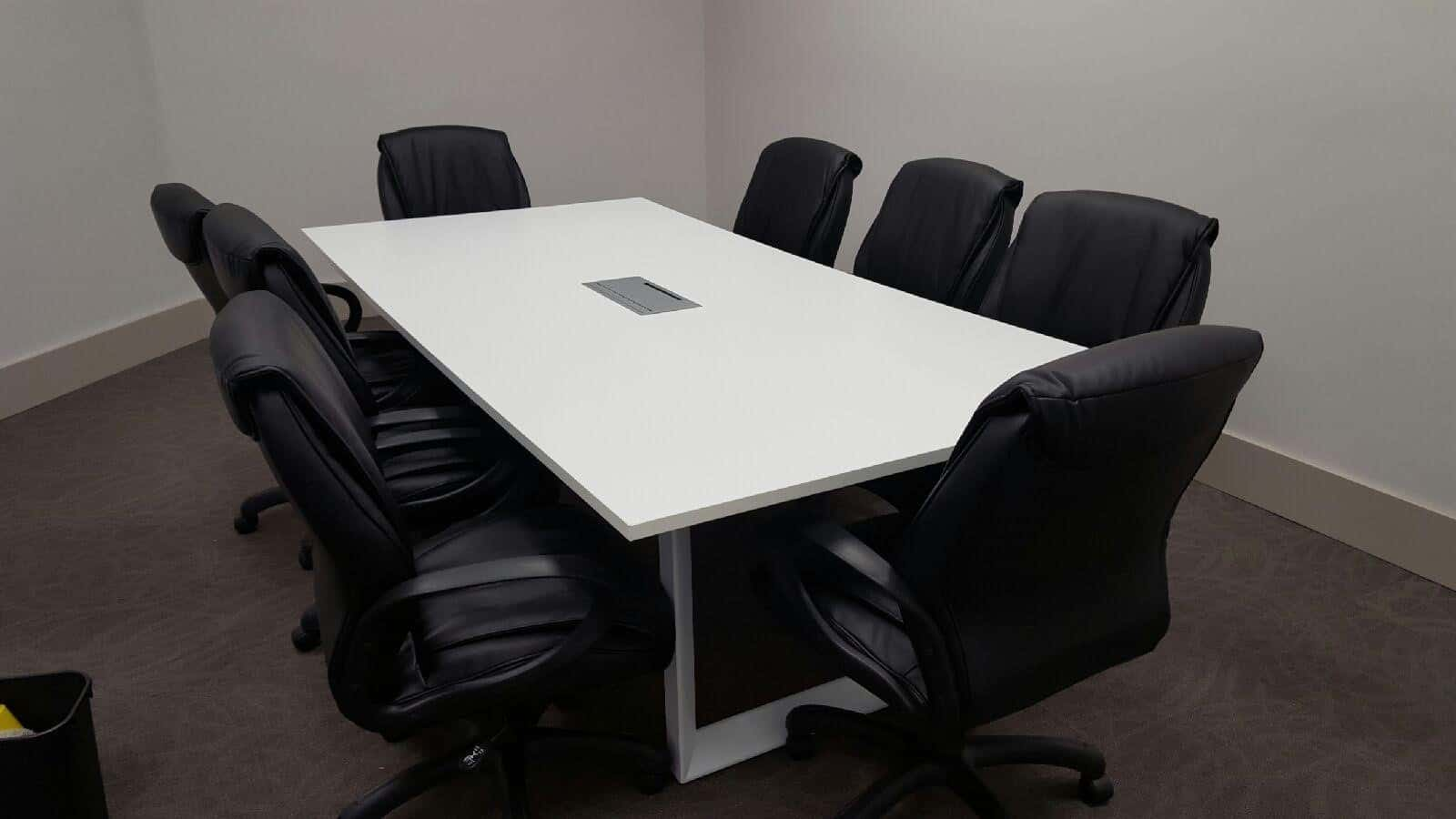 Custom 10 Foot Rectangular Conference Table W White Metal
