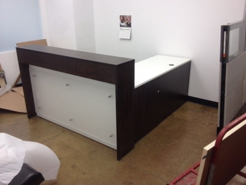 Custom Reception Desk With Acrylic Front Direct Office