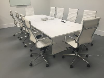 Ingot Series Racetrack Conference Table Foot With Square Base - 12 ft conference table