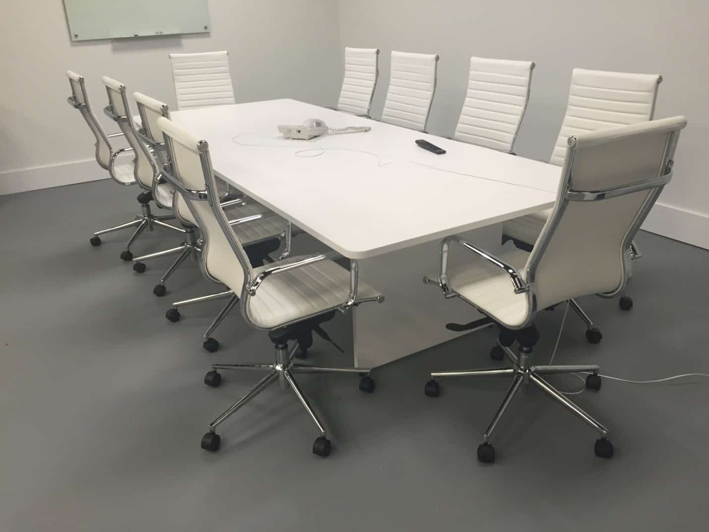 & 10 Foot Slab Base Modern Conference Table - Direct Office Solutions