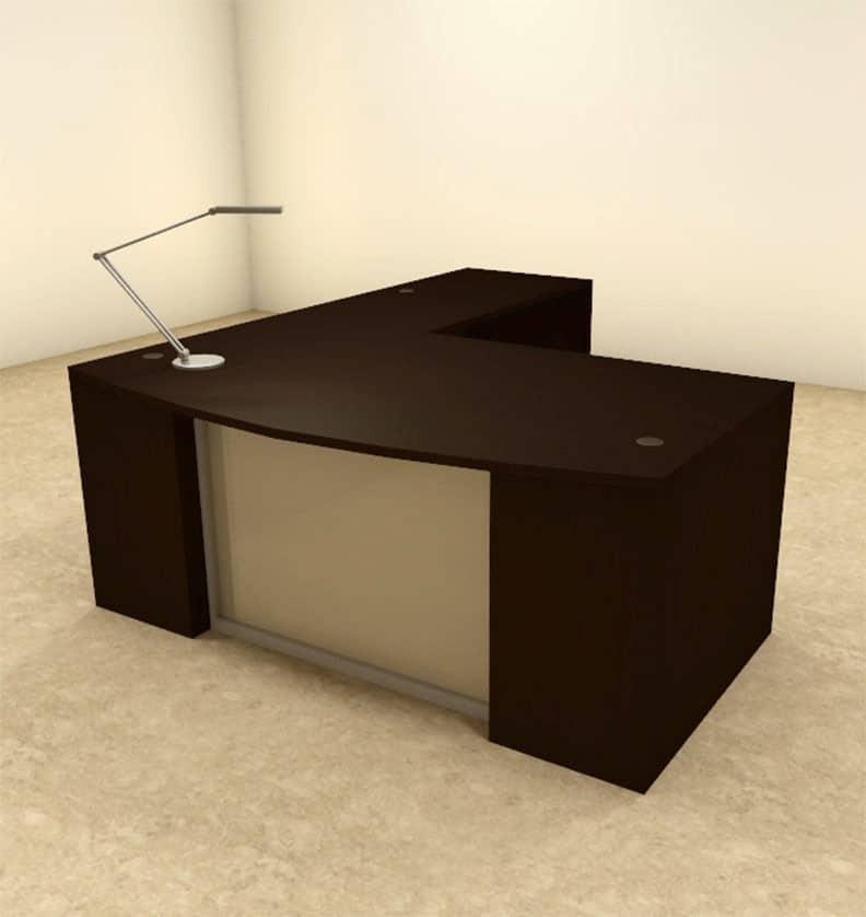 Reversible L Shaped Desk Coaster Yvette Collection White