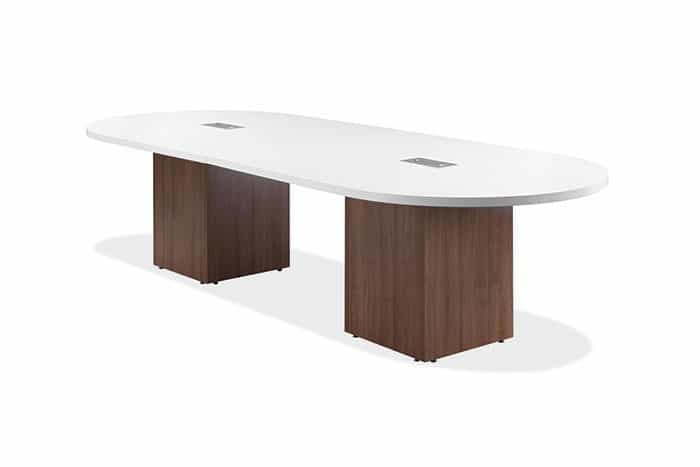 Ingot Series Racetrack Conference Table Foot With Square Base - Series a conference table