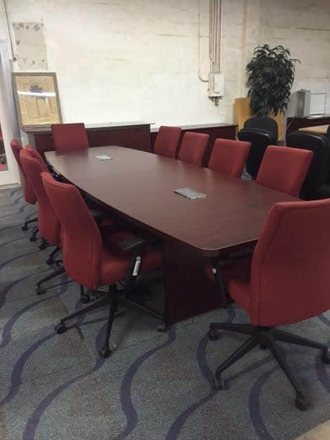 10 Foot Mahogany Boat Shape Conference Table Direct