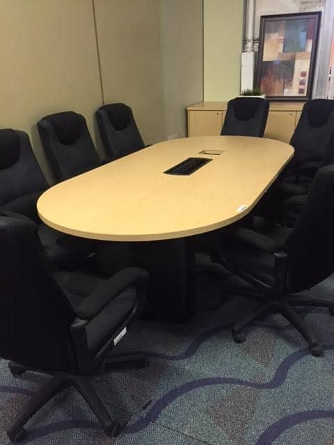 8 Foot Maple Racetrack Conference Table Direct Office