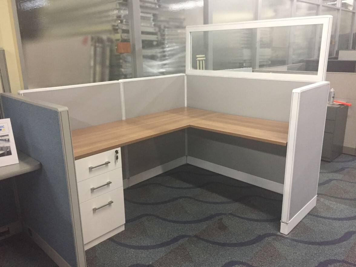 office work surfaces. Haworth Workstation With NEW Fabric, Work Surfaces And Trim Shown As A 5 X 6 48\u201d High Panels - Direct Office Solutions L