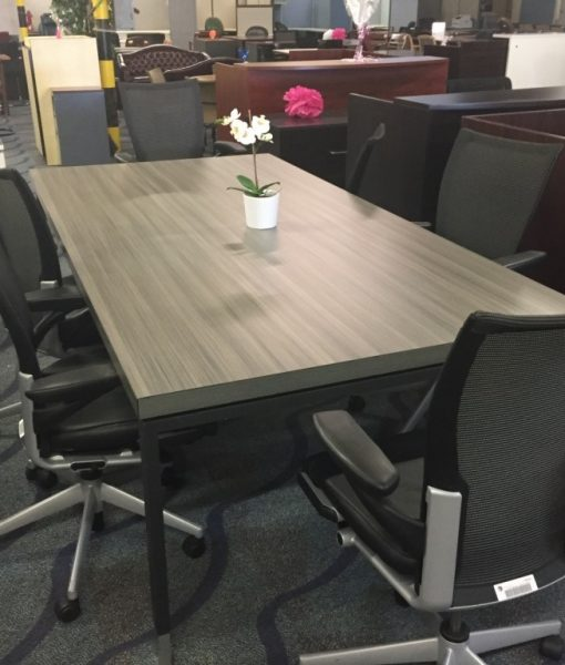 8 Foot Cool Grey Rectangular Conference Table Direct