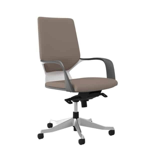 Amari High Back Chair  Fabric And Faux Leather Upholstery   Direct Office  Solutions