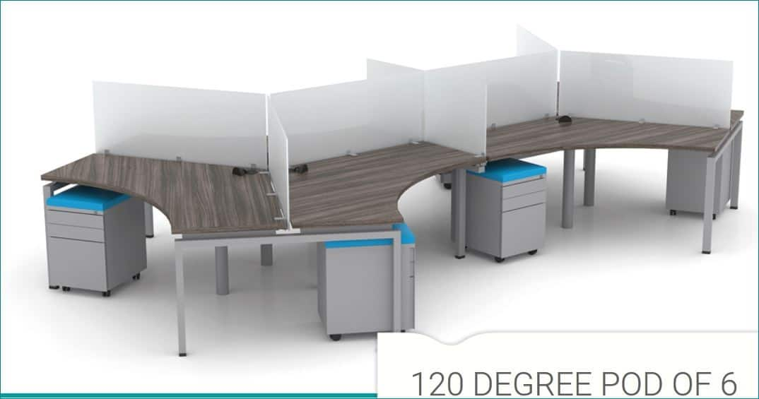 120 Degree Workstations By Clear Design Direct Office