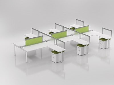 Compel Furniture Z Bench 2 Station Direct Office Solutions