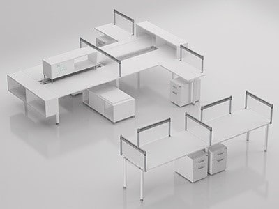 Perfect Compel Furniture Z Bench 2 Station Direct Office Solutions