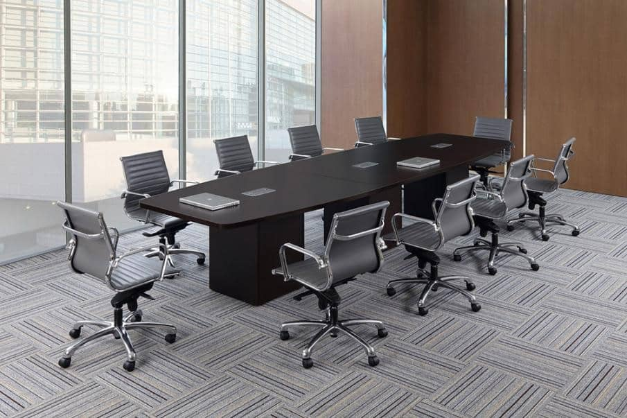 Foot Boat Shape Conference Table With Cube Base Direct Office - 14 foot conference table