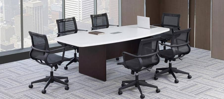 Foot Boat Shape Two Tone Conference Table Direct Office Solutions - 8 foot office table