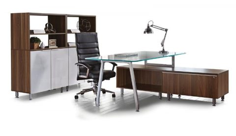 Inigo Executive Glass Desk