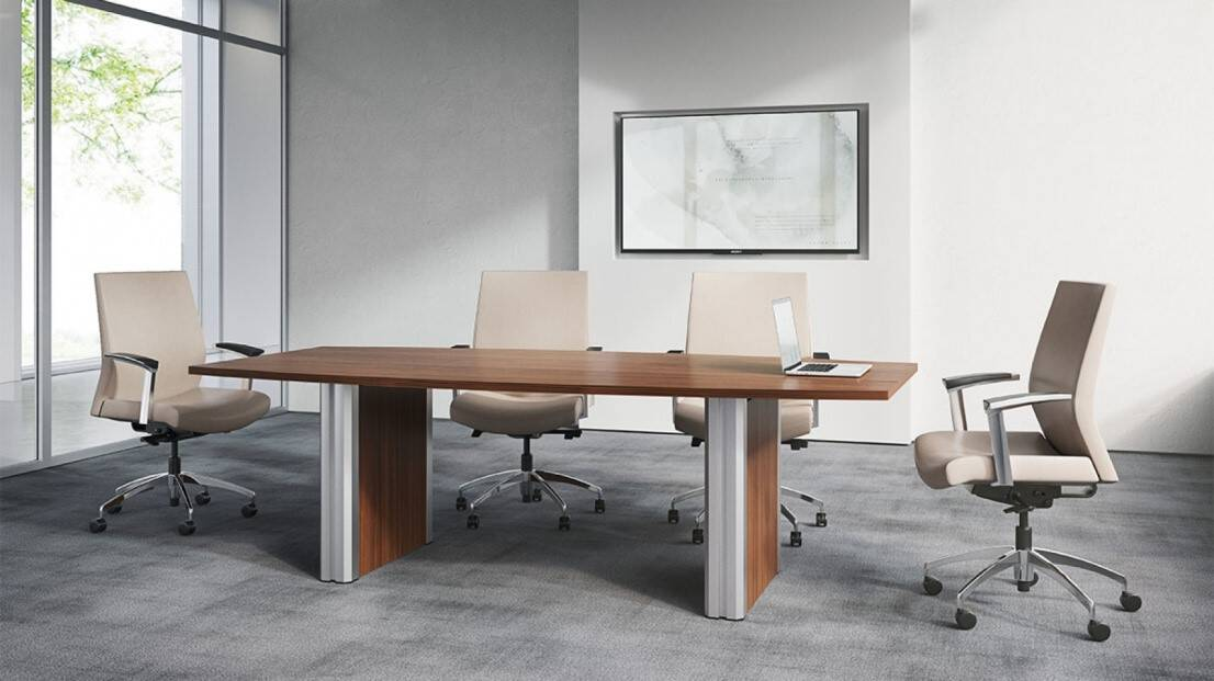 Pulse By First Office Boat Shape Conference Table Direct