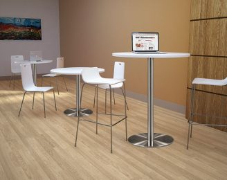 Bleeker Street High Top Cafe Breakroom Table with 4 Bar Stools