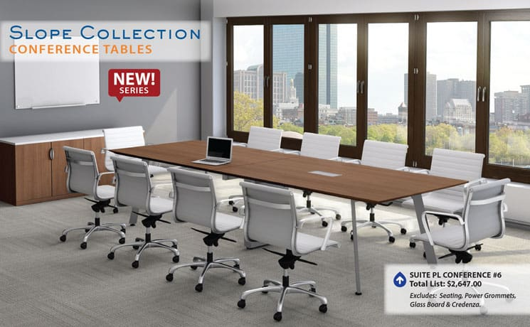 NEW Slope Conference Table Direct Office Solutions - Conference room table grommets
