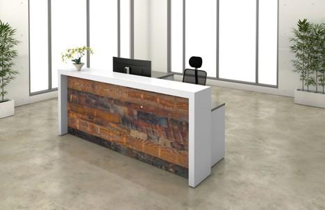 DeskMakers Custom Reception Desk 3695 - Direct Office Solutions