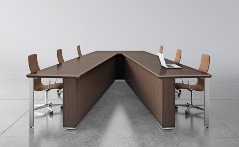 Threeh V Shape Conference Table Direct Office Solutions