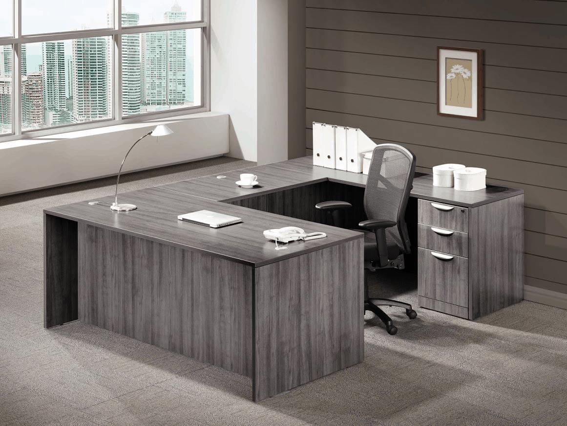 Gray U Shape Desk Direct Office Solutions