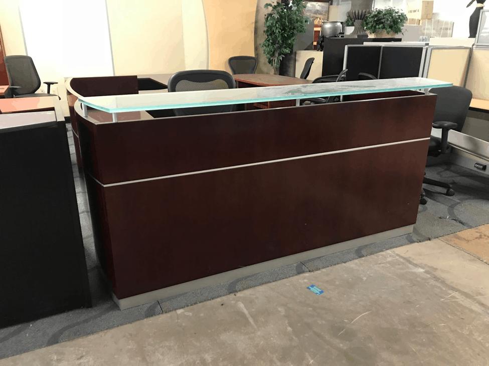 Mayline Wood Veneer Reception Desk Direct Office Solutions