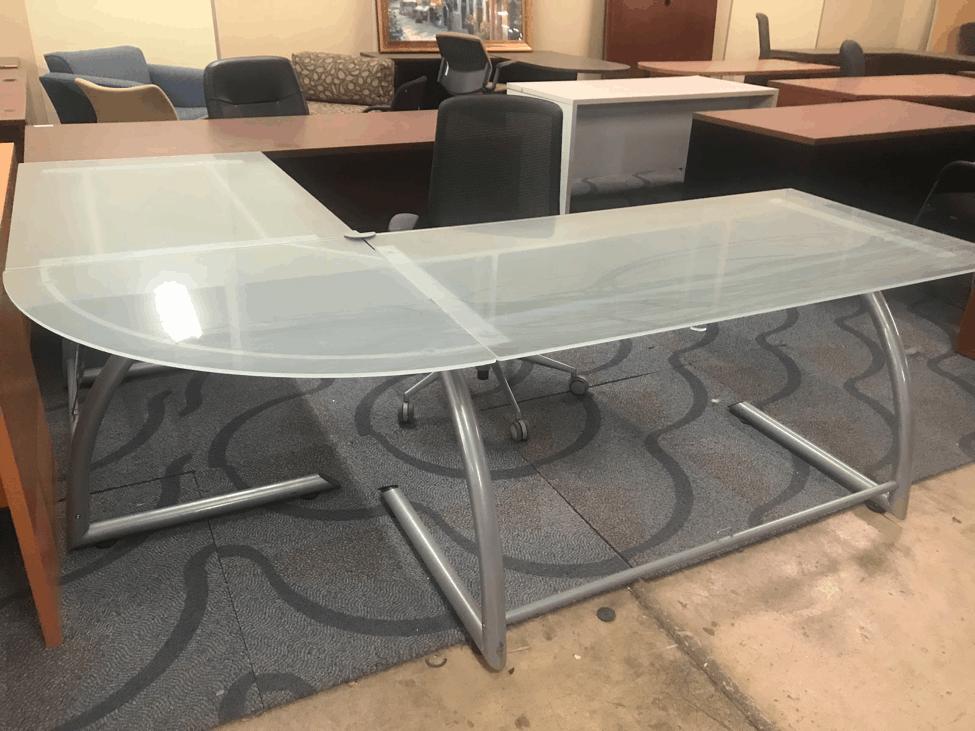 Modern Gl L Shaped Desk Direct